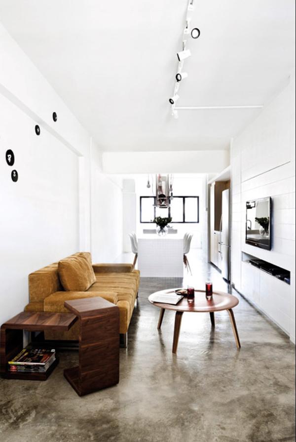 Minimalist Hdb Design: Edgy, Minimalist HDB Three-roomer